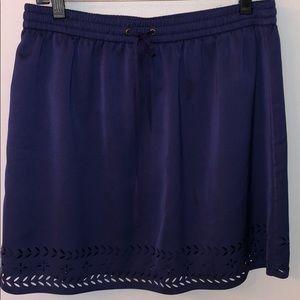 J Crew Navy Drawstring Skirt - size 8!